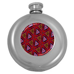 Computer Graphics Graphics Ornament Round Hip Flask (5 oz)