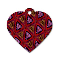 Computer Graphics Graphics Ornament Dog Tag Heart (One Side)