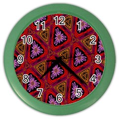 Computer Graphics Graphics Ornament Color Wall Clocks