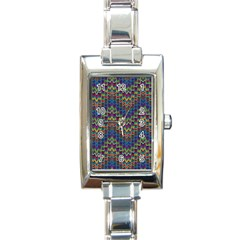 Decorative Ornamental Abstract Rectangle Italian Charm Watch