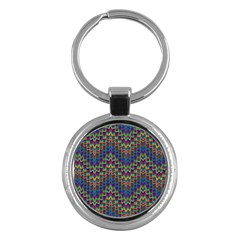 Decorative Ornamental Abstract Key Chains (Round)