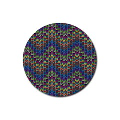 Decorative Ornamental Abstract Rubber Coaster (round)