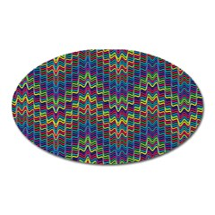 Decorative Ornamental Abstract Oval Magnet