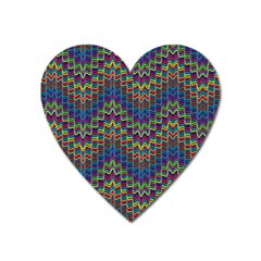 Decorative Ornamental Abstract Heart Magnet