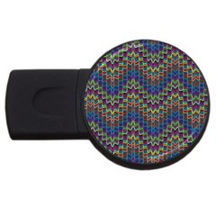 Decorative Ornamental Abstract USB Flash Drive Round (1 GB)
