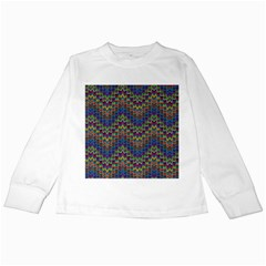Decorative Ornamental Abstract Kids Long Sleeve T-Shirts