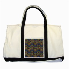 Decorative Ornamental Abstract Two Tone Tote Bag