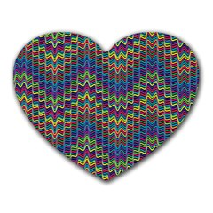 Decorative Ornamental Abstract Heart Mousepads