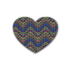Decorative Ornamental Abstract Rubber Coaster (Heart)