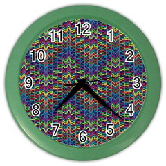 Decorative Ornamental Abstract Color Wall Clocks