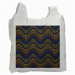 Decorative Ornamental Abstract Recycle Bag (One Side)