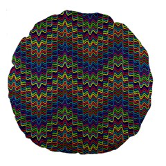 Decorative Ornamental Abstract Large 18  Premium Round Cushions