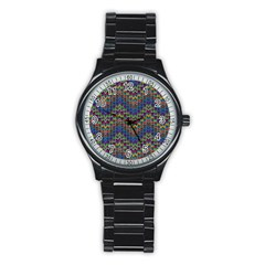 Decorative Ornamental Abstract Stainless Steel Round Watch