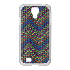 Decorative Ornamental Abstract Samsung GALAXY S4 I9500/ I9505 Case (White)