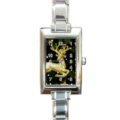December Christmas Cologne Rectangle Italian Charm Watch