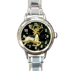 December Christmas Cologne Round Italian Charm Watch