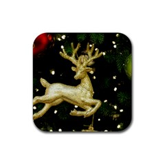 December Christmas Cologne Rubber Square Coaster (4 pack)