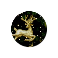 December Christmas Cologne Rubber Round Coaster (4 pack)