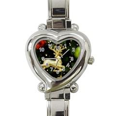 December Christmas Cologne Heart Italian Charm Watch