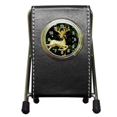 December Christmas Cologne Pen Holder Desk Clocks