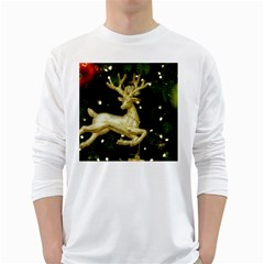 December Christmas Cologne White Long Sleeve T-Shirts