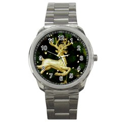 December Christmas Cologne Sport Metal Watch