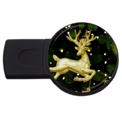 December Christmas Cologne USB Flash Drive Round (4 GB)