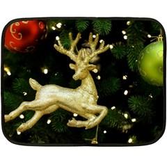 December Christmas Cologne Fleece Blanket (Mini)