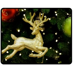 December Christmas Cologne Fleece Blanket (Medium)