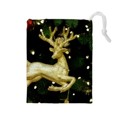 December Christmas Cologne Drawstring Pouches (large)