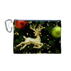December Christmas Cologne Canvas Cosmetic Bag (M)