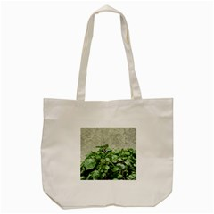 Plants Against Concrete Wall Background Tote Bag (Cream)