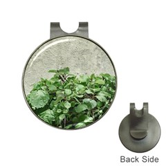 Plants Against Concrete Wall Background Hat Clips with Golf Markers