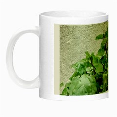 Plants Against Concrete Wall Background Night Luminous Mugs