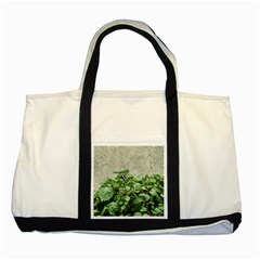 Plants Against Concrete Wall Background Two Tone Tote Bag