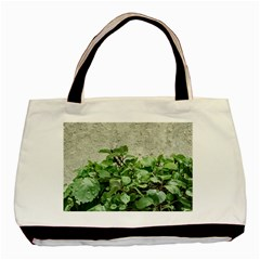 Plants Against Concrete Wall Background Basic Tote Bag (Two Sides)