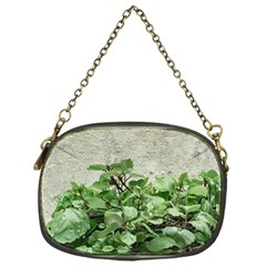 Plants Against Concrete Wall Background Chain Purses (One Side)