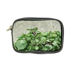 Plants Against Concrete Wall Background Coin Purse