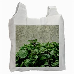 Plants Against Concrete Wall Background Recycle Bag (Two Side)