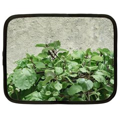 Plants Against Concrete Wall Background Netbook Case (XXL)