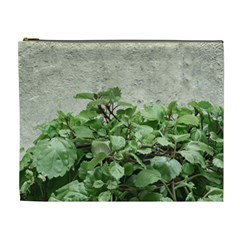 Plants Against Concrete Wall Background Cosmetic Bag (XL)