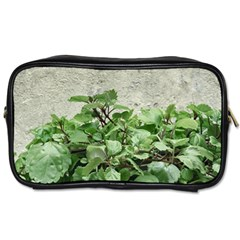 Plants Against Concrete Wall Background Toiletries Bags 2-Side