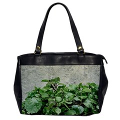 Plants Against Concrete Wall Background Office Handbags