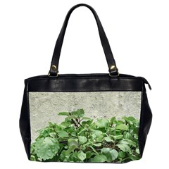 Plants Against Concrete Wall Background Office Handbags (2 Sides)