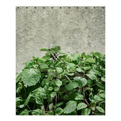 Plants Against Concrete Wall Background Shower Curtain 60  x 72  (Medium)