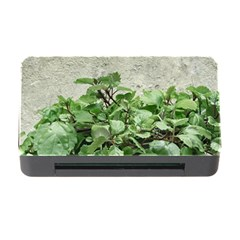 Plants Against Concrete Wall Background Memory Card Reader with CF