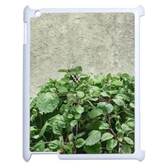 Plants Against Concrete Wall Background Apple iPad 2 Case (White)
