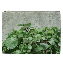 Plants Against Concrete Wall Background Cosmetic Bag (XXL)