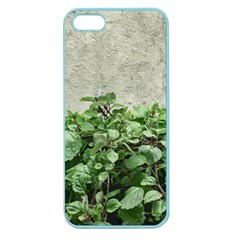 Plants Against Concrete Wall Background Apple Seamless iPhone 5 Case (Color)