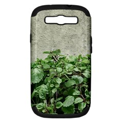 Plants Against Concrete Wall Background Samsung Galaxy S III Hardshell Case (PC+Silicone)